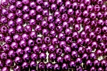 Koraliki błyszczące średnica 8 mm kolor fioletowy
